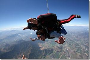 activités couple saut en parachute